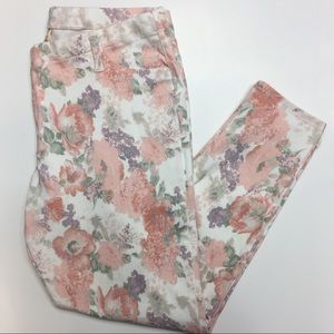 Faded Glory • floral leggings